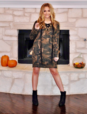 Trophy Wife Camo Dress