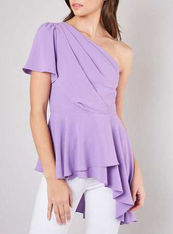 Girls Just Want To Have Fun One Shoulder Top