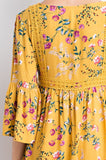 Weekend In The Hamptons Floral Print Dress | Yellow
