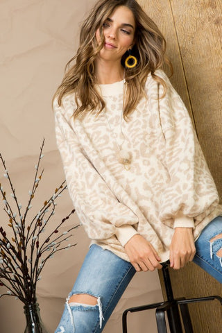 Your Softer Side Leopard Print Sweater