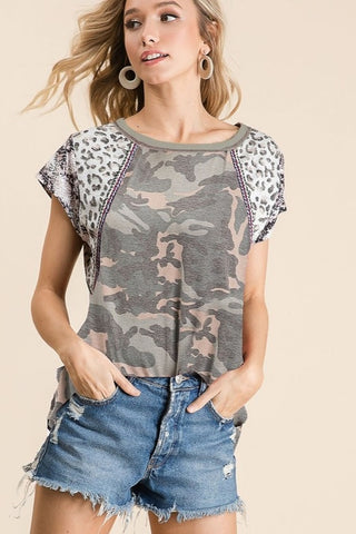 Oh So Chic Camo Top