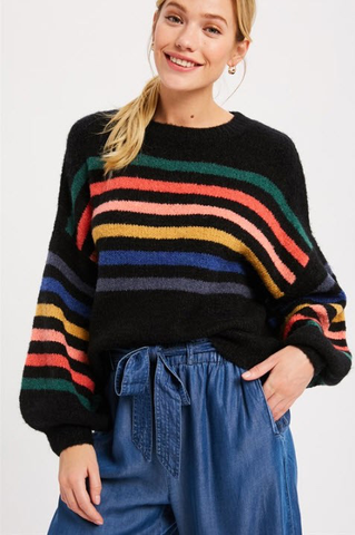 Gotta Have It Rainbow Stripe Sweater