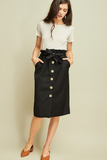 Jamie Button Down Paperbag Skirt