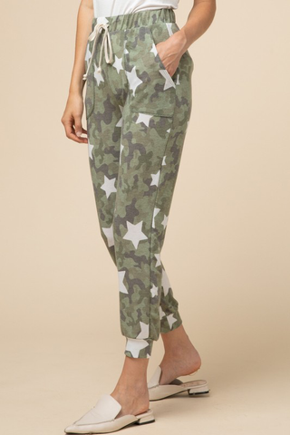 Camo And Stars Joggers