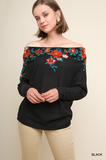 Floral Embroidered Thermal Top