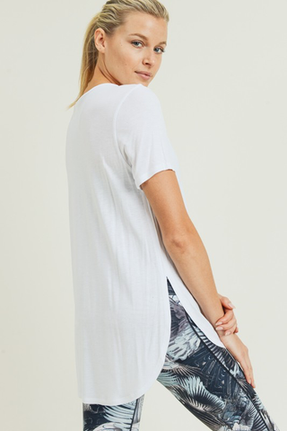 Short Sleeve Tulip Top - White
