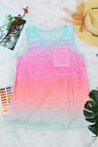 Summer Sunset Ombre Tank Top
