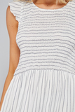Carefree In Cali Striped Smocked Dress