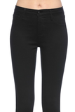 Trendsetter Skinny Jeans With Fray Hem - Black
