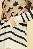 Leopard and Stripes Cardigan
