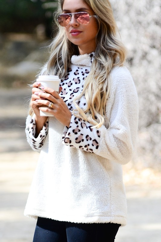 In The Spotlight Leopard Print Pullover