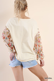 The Sherry Embroidered Top - Natural