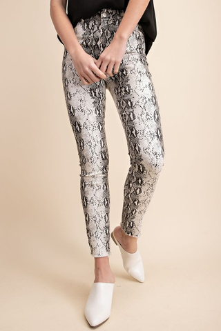 All About The Sass Snake Print Jeans
