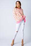 Oh So Bright Neon Striped Sweater