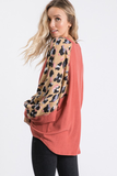Sweet Escape Animal Print Bishop Sleeve Top
