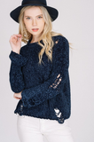 Chenille Distressed Sweater
