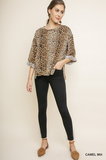Animal Print Shift Top