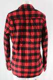 Fur Lined Plaid Flannel Top