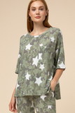 Camo And Stars Top