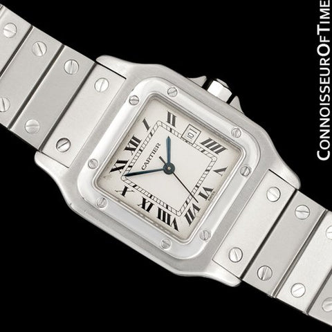Cartier Santos Automatique Mens Bracelet Watch - Stainless Steel