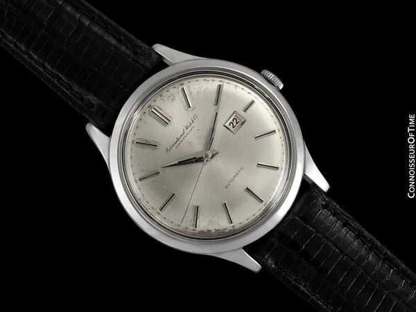 1963 IWC Vintage Mens Watch, Cal. 8531 Automatic with Date, Stainless Steel - Rare Oversized Example