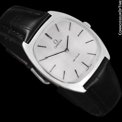 1977 Omega De Ville Vintage Mens Handwound Ultra Thin Dress Watch - Stainless Steel