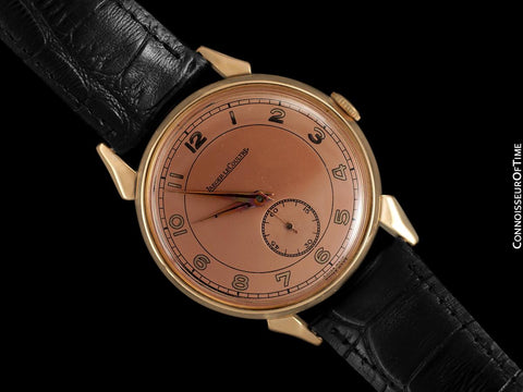 1949 Jaeger-LeCoultre Vintage Large 37mm Mens Watch - 18K Rose Gold