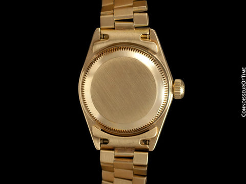 Rolex Ladies President Datejust, Quick-Setting Date, Silver Dial, 69178 - 18K Gold - Papers and Boxes