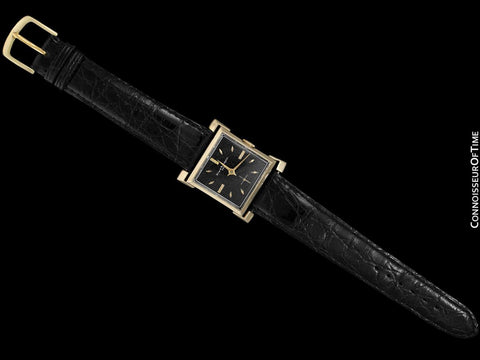 1960's Girard Perregaux Vintage Mens Pagoda Style Lug Watch - 14K Gold