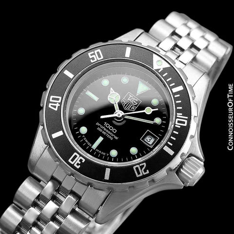 "Heuer (Tag Heuer) Vintage Ladies ""Bo Derek"" Submariner Divers Watch with Bracelet - Stainless Steel"