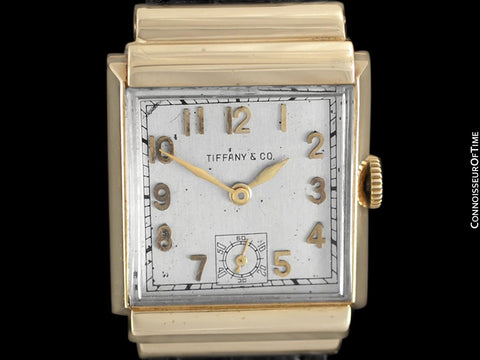 1940's Tiffany & Co. by IWC Vintage Watch with Cresarrow Case - 14K Gold