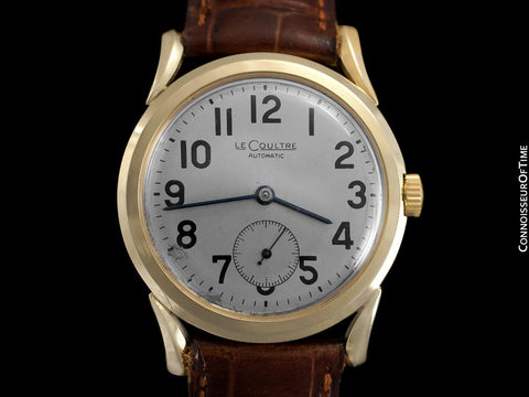 1957 Jaeger-LeCoultre Vintage Watch, Automatic with Bombe Lugs - 14K Gold