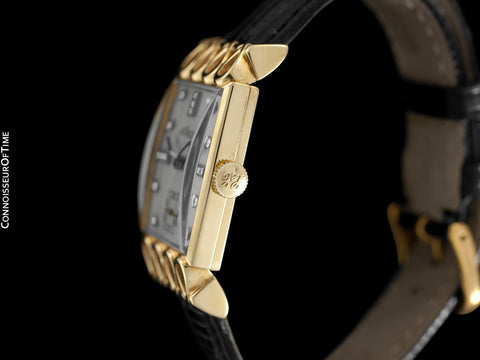 1951 Jaeger-LeCoultre Vintage Mens Watch, 18K Gold and Diamonds - The Lowell