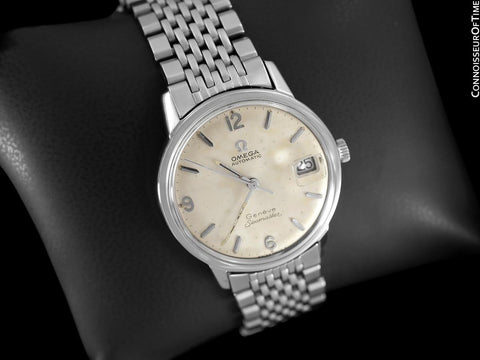 1969 Omega Seamaster Geneve Mens Vintage Stainless Steel Watch with 565 Movement - Rare Double Signed Version