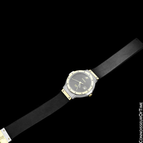 Hublot MDM Ladies Rubber Bracelet Luxury Sports Watch - Stainless Steel and 18K Gold