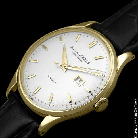 1963 IWC Vintage Mens Watch, Cal. 8541 Automatic with Date - 18K Gold Plated