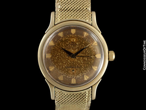 "1954 Omega Vintage ""De Luxe"" Constellation with Bracelet - Tropical Dial - 18K Gold with Box"
