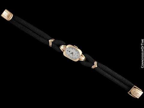1940's Rolex Precision Vintage Pre-Cellini Ladies Watch, Ref. 5637 - 14K Gold