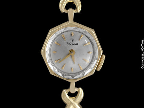1968 Rolex Ladies Vintage Pre-Cellini Watch with Rare Boxes & Receipt - 14K Gold