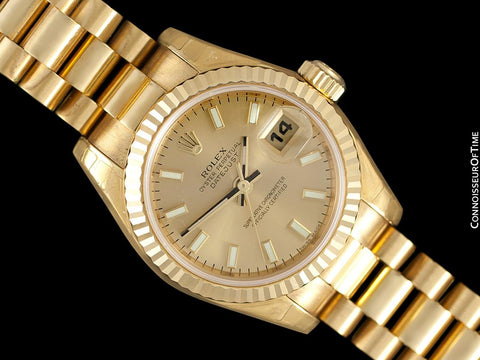 Rolex President Datejust Ladies 18K Gold 179178 Watch, $23,850 - Brand New & Unworn