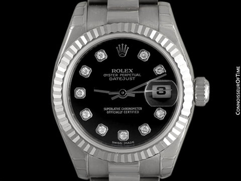 Rolex President Datejust Ladies 18K White Gold & Diamond 179179 Watch, $28,100 - Brand New & Unworn