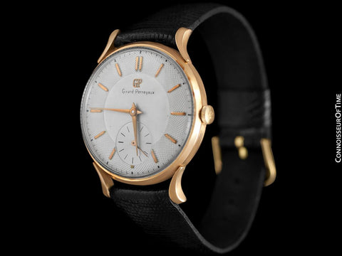 1960's Girard Perregaux Vintage Large Mens Watch - 18K Rose Gold