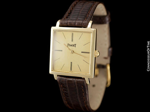 1960's Piaget Vintage Mens Midsize Watch with Award Winning 9P Movement - 18K Gold