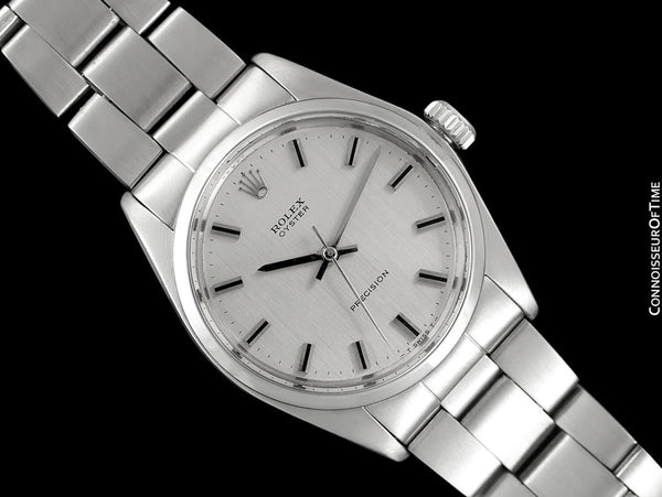 1971 Rolex Oyster Classic Vintage Mens Handwound Watch, Stainless Steel