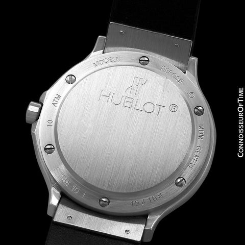 Hublot MDM Midsize Mens Automatic GMT Watch - Stainless Steel
