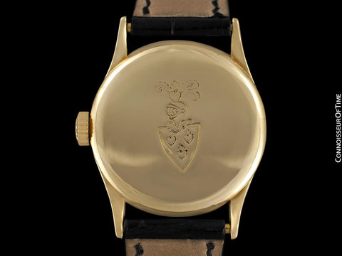 1941 Patek Philippe Vintage Calatrava Ref. 96 Mens Watch, 18K Gold - Rare Black Dial
