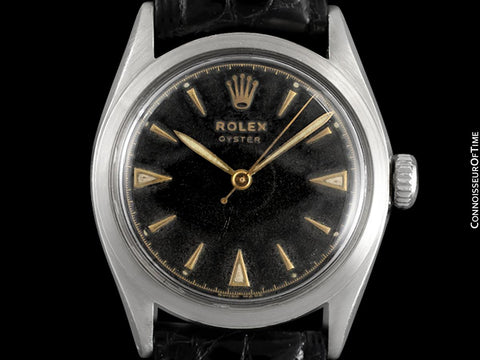 1953 Rolex Mens Vintage Oyster Precision Watch, Stainless Steel - Classic & Rare Design