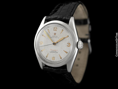 "1952 Rolex Oyster Perpetual Vintage Mens Rare ""Red Letter"" Ref. 6084 Watch - Stainless Steel"