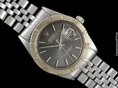 1969 Rolex Vintage Turn-O-Graph Thunderbird Datejust Mens Watch, 1625 - Stainless Steel & 18K White Gold