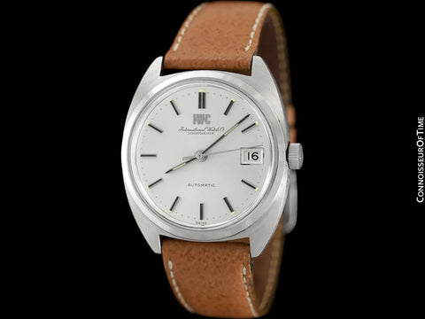 1978 IWC Vintage Mens Automatic Watch, Silver Dial with Date, Stainless Steel - Near New Old Stock